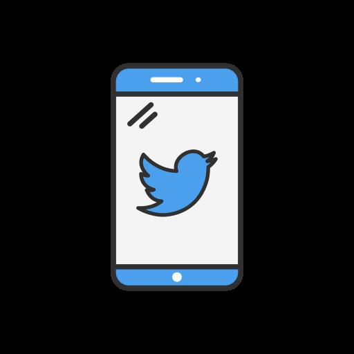 inbox, phone, twitter, twitter logo icon