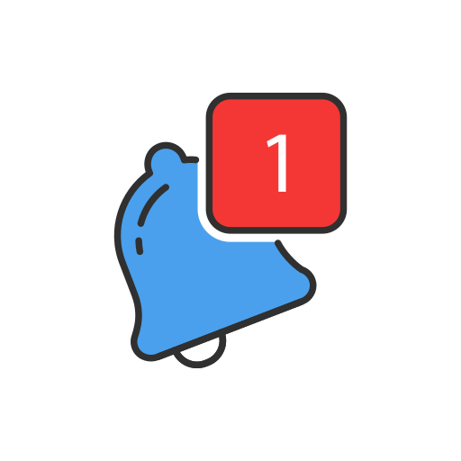 bell, notification, one notification, tiwtter icon