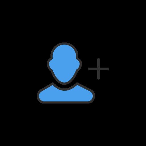 add, follow, following, twitter icon