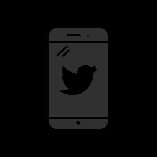 bird, iphone, phone, twitter icon