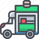 car, carry, food, transport, transportaion, truck, vehicle icon