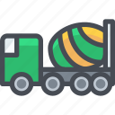 camions, car, toupie, transport, transportaion, vehicle icon