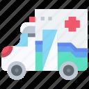 ambulane, car, transport, transportation icon