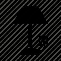 electric, energy, floor, indoor, lamp, light, lighting icon