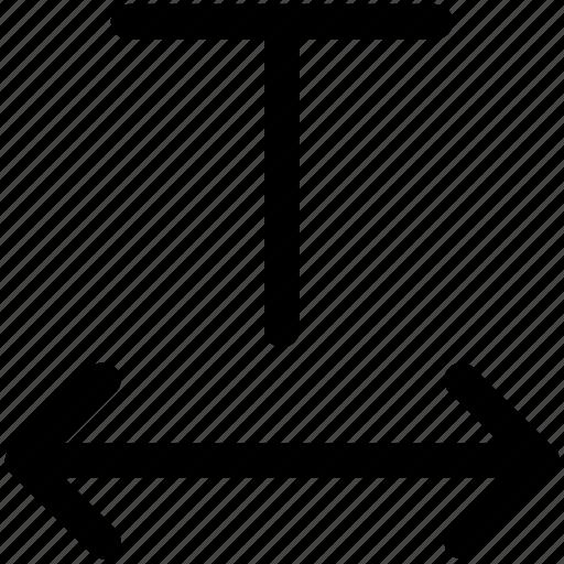 font, format, horizontal, horizontally, scale, text, tracking icon icon