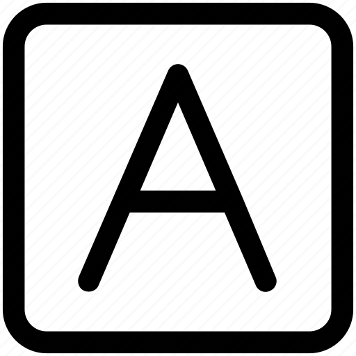 a text, font, letter, type icon icon