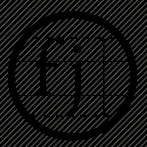 cap, design, designer, height, typography icon