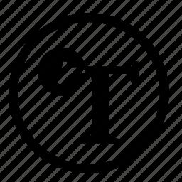 design, designer, serif, typography icon