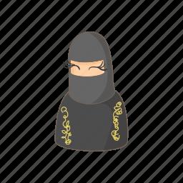 arab, arabic, cartoon, dubai, islam, muslim, woman icon
