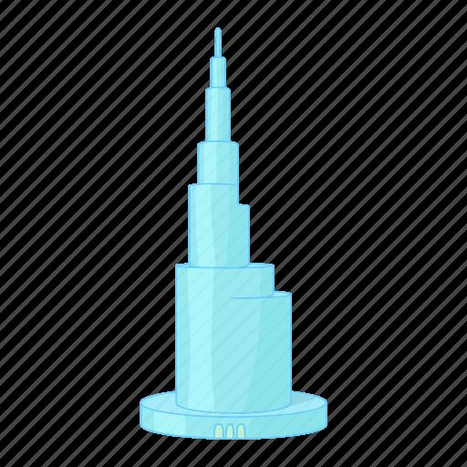 building, cartoon, cityscape, dubai, skyline, skyscraper icon
