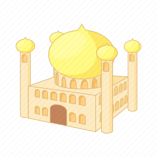 architecture, cartoon, jumeirah, minaret, mosque, tourism icon