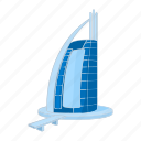 arab, architecture, cartoon, dubai, emirates, hotel, sail icon