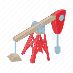 cartoon, energy, fuel, industry, oil, pipe, pump icon