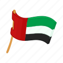 arab, banner, cartoon, emirate, flag, national, united icon