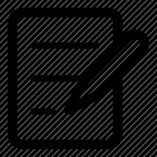 compose, diary, edit, file, note, write icon