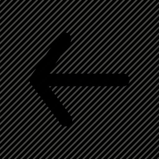 arrow, back, direction, left, previous, ui, web icon