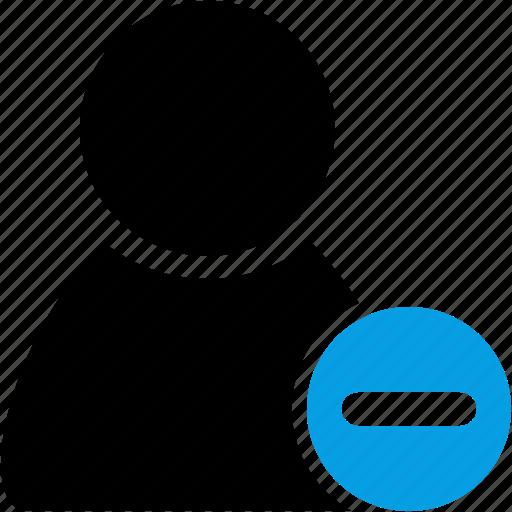 avatar, client, delete, minus, profile, remove, user icon
