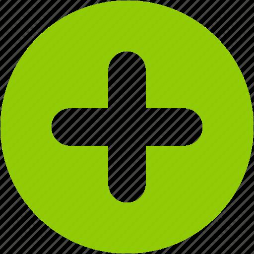 add, circle, create, new, plus, user icon