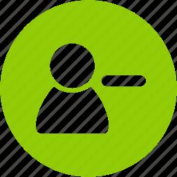 account, avatar, circle, minus, people, profile, user icon