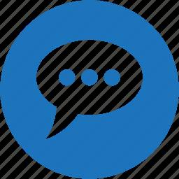 bubble, chat, circle, communication, message, talk icon