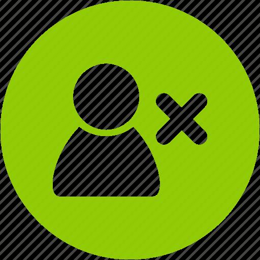 account, avatar, circle, client, profile, remove, user icon