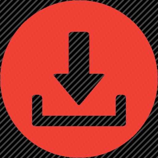 circle, disk, download, downloads, guardar, save, storage icon