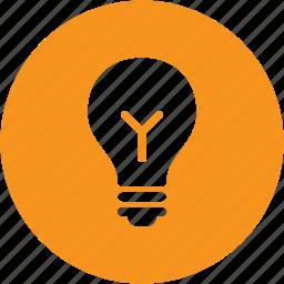 bulb, circle, creative, electricity, idea, lamp, light icon