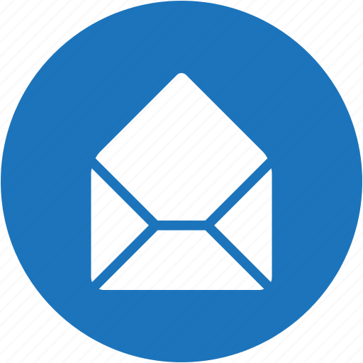 circle, email, envelope, letter, mail, message icon