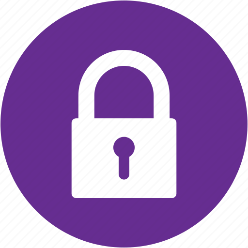 circle, key, lock, locked, password, protection, security icon