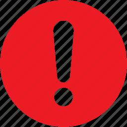 alarm, alert, caution, danger, error, warning icon