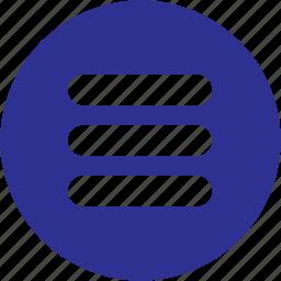 list, menu, options, preferences, stack, storage icon