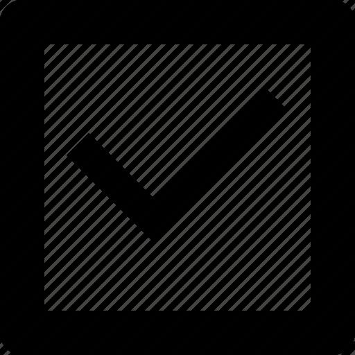 box, check, check box, checkbox, mark, square icon