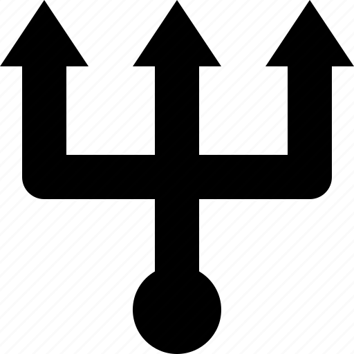 gear box, path, trident, way, ways icon
