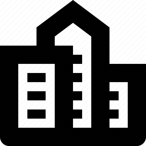 block, building, city, home, house icon