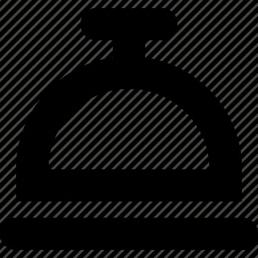 cloche, restaurant, ring, service, tray icon