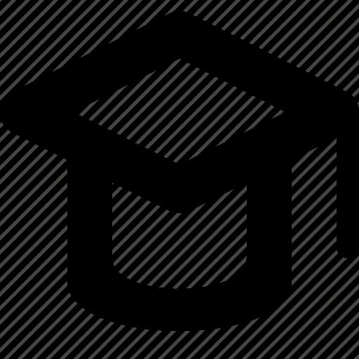 education, hat, learning, mortar board, school, student icon