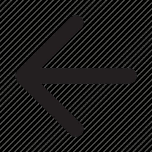 arrow, left, navigation, phone, ui, website icon