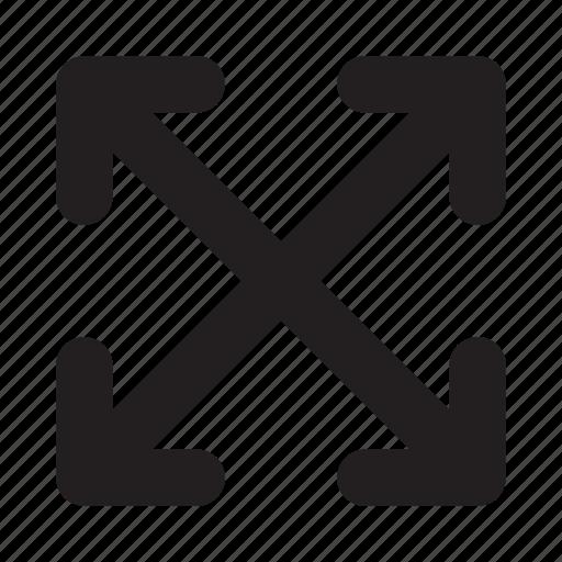 arrow, navigation, phone, ui, website, zoom icon