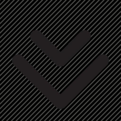arrow, down, navigation, phone, ui, website icon
