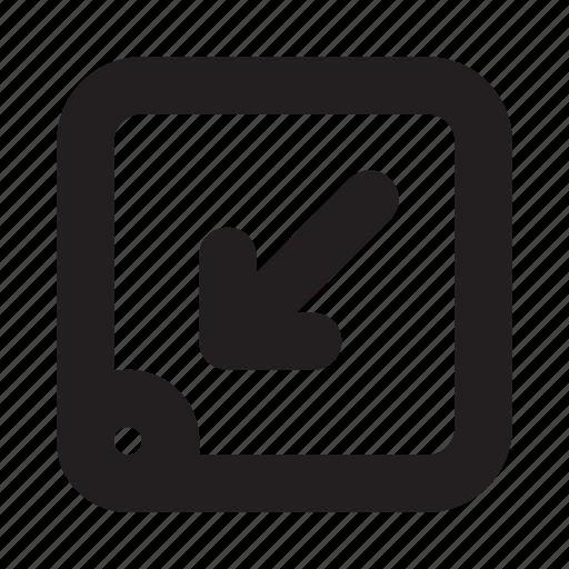 arrow, map, mobile, navigation, phone, ui, website icon