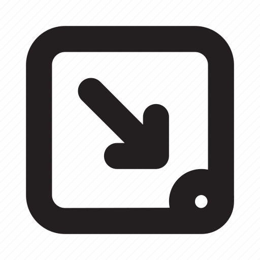 arrow, location, mobile, navigation, phone, ui, website icon
