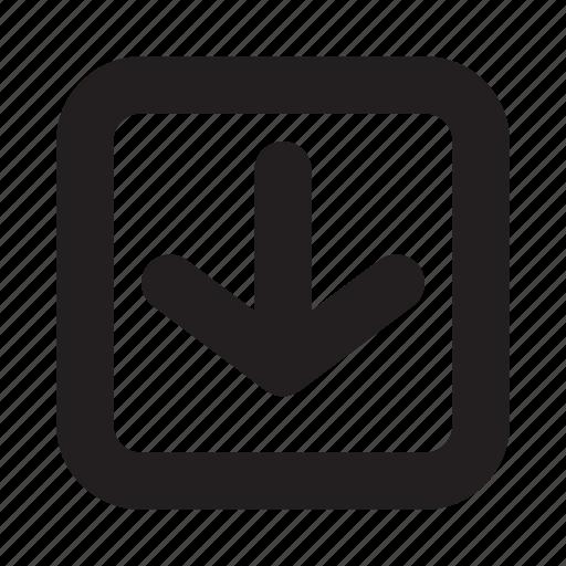 arrow, down, interface, navigation, phone, ui, website icon