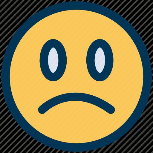 angry, sad, unhappy icon
