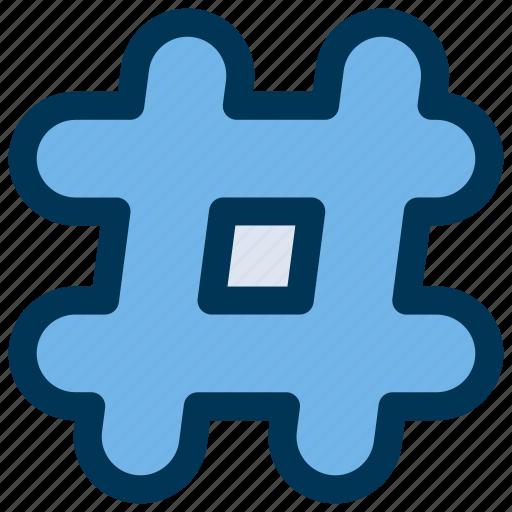 has, hashtag, tag icon