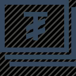 currency, money, tughrik icon