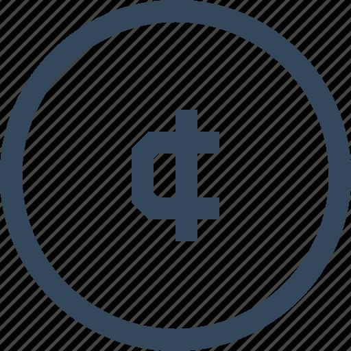cedi, coin, currency, ghana cedi, money icon