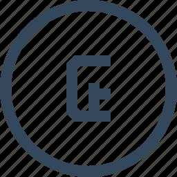 coin, cruzeiro, currency, money icon