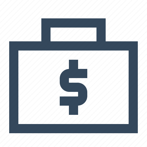 dollar, finance, money bag icon