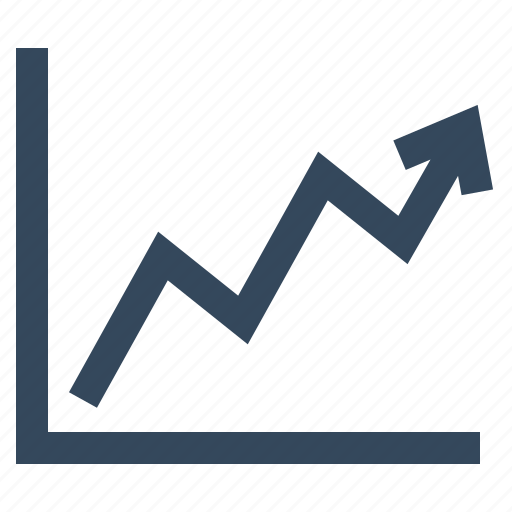 chart, diagram, graph, growth, line graph, presentation, statistics icon