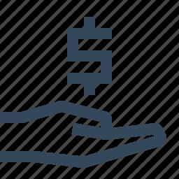 dollar, finance, loan, save money icon